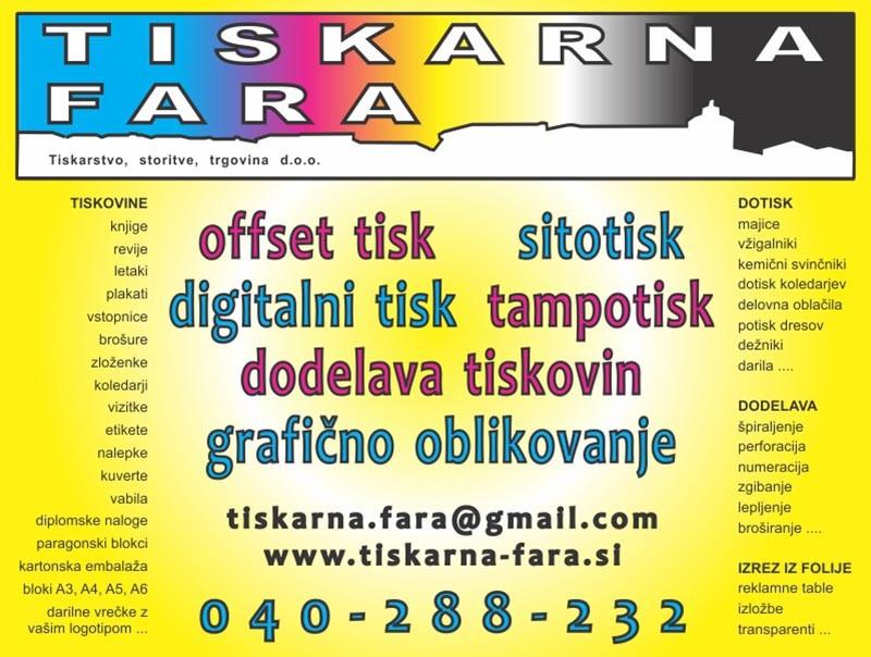 DIGITALNI TISK| OFFSET TISK| UV TISK| TISKARNA ŠKOFJA LOKA