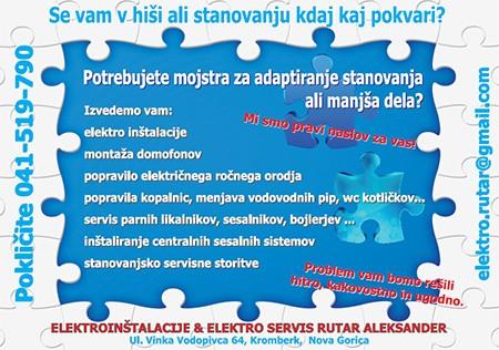ELEKTROINŠTALACIJE & ELEKTRO SERVIS RUTAR ALEKSANDER S.P., NOVA GORICA
