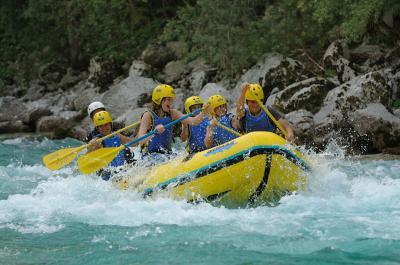 Rafting Soča Maya team